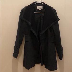 Bar III Asymmetrical Zippered Charcoal Jacket